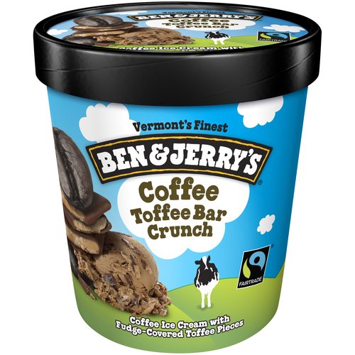 Rich and creamy coffee ice cream with chunks of fudge-covered toffee bar pieces. It's a simply fantastic fan favorite that will have you buzzing with every bite!