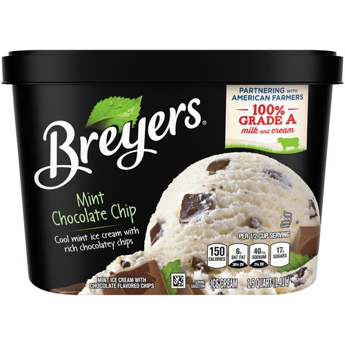 Another Breyers classic, made with cool, mint ice cream with the real taste of mint and rich chocolatey chips.