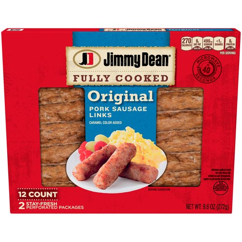 Made with premium pork, seasoned to perfection with our signature blend of spices, these savory sausage links have 9 grams of protein per serving to give you more fuel to power your day.