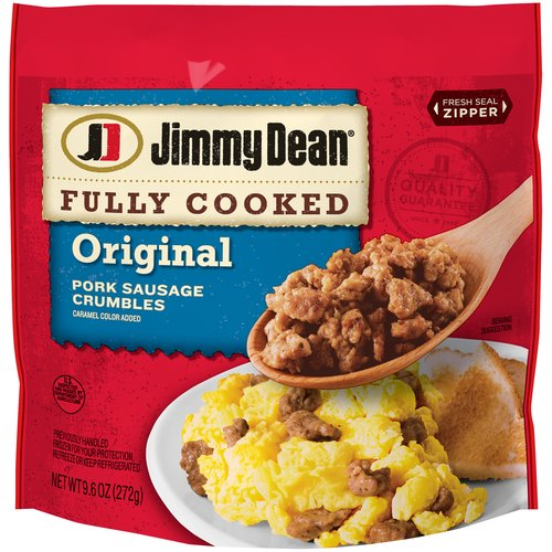 Made with premium pork seasoned with our signature blend of spices, our sausage crumbles are a quick and tasty addition to any meal.