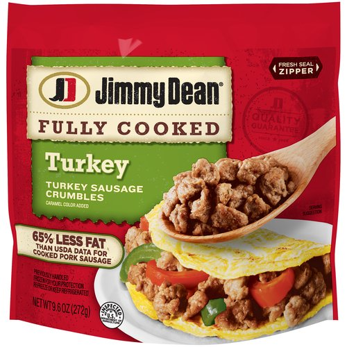 Made with premium turkey, seasoned to perfection with our signature blend of spices, our sausage crumbles are packed with 11 grams of protein per serving, making it a delicious way to start your day.