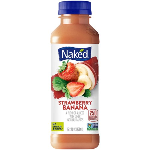 All natural. 100% Juice Smoothie. 4-Juice blend with added vitamin C. A pound of fruit in every bottle. No added sugar, no preservatives, no inhibitions. This product has been gently pasteurized.