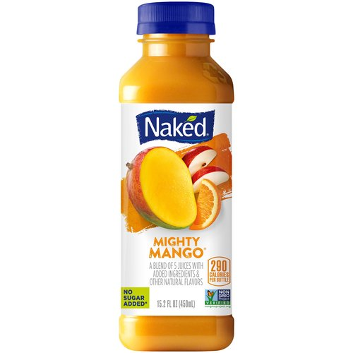All natural. 5-Juice blend with added vitamins and minerals. No sugar added.