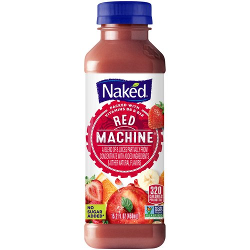 Blend of 8 from concentrate and not from concentrate juices with other natural flavors and ingredients. No sugar added.