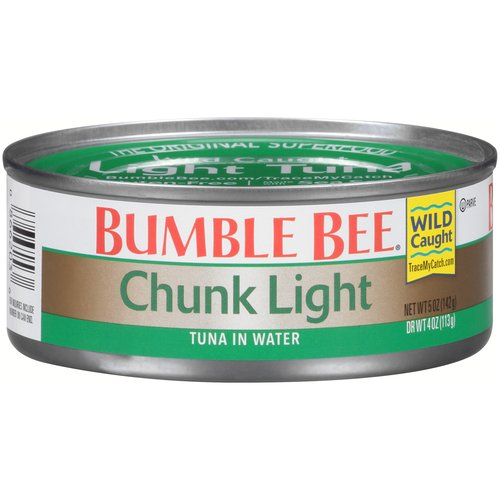 Our premium, wild caught Chunk Light tuna is perfectly flaked to use in sandwiches and casseroles, and this conveniently sized can will keep your family satisfied and happy.