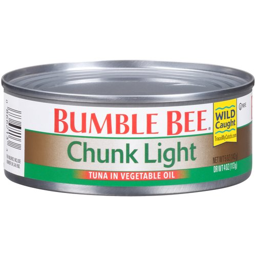 Our premium, wild caught Chunk Light tuna is perfectly flaked to use in sandwiches and casseroles, and the vegetable oil will give your recipes added flavor and texture.