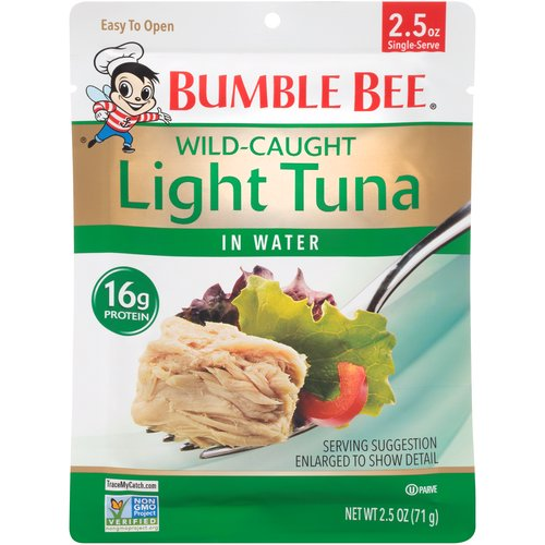 Our delicious light Tuna is now available in a convenient vacuum-sealed pouch. Simply tear open to add your favorite tuna to sandwiches, salads and seafood recipes.