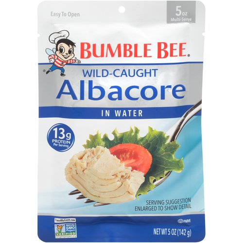 Now our premium Albacore Tuna is available in a convenient vacuum-sealed pouch. Simply tear open to add your favorite tuna to sandwiches, salads and seafood recipes.