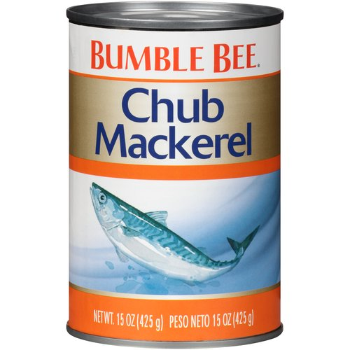Chub Mackerel is a fish similar in size to a large sardine with a very unique flavor profile. Packed 3-4 into each can, Chub Mackerel makes a great ingredient for hot dishes, including casseroles.