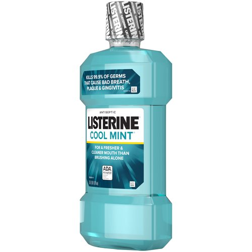 Get a cleaner, healthier mouth with this mouthwash. The germ- killing formula is clinically shown to reduce plaque and gingivitis as it freshens breath.
