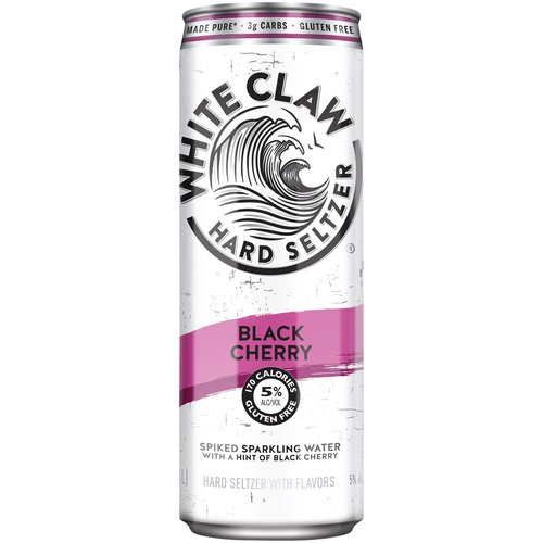 5% ABV. White Claw Black Cherry is the perfect blend of seltzer water, the cleanest tasting alcohol base, and a hint of black cherry.