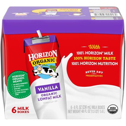 8 fl oz each. Vitamins A & D. UHT. 6 Milk Boxes.