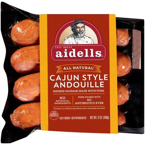 Made with double-smoked, coarsely-ground pork and our special Creole spice blend, this gluten-free sausage welcomes the taste of Louisiana to your plate.