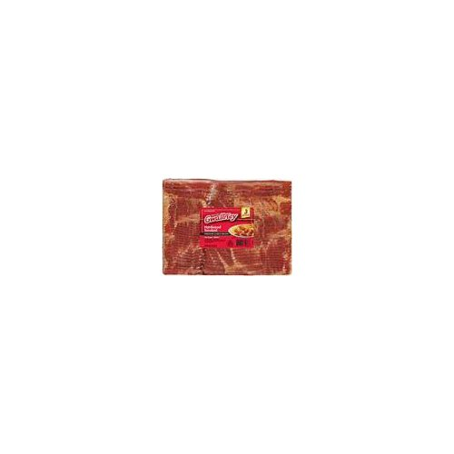 Virginia-Cured Hardwood Smoked Bacon in a family size package. Contains no added sugar.