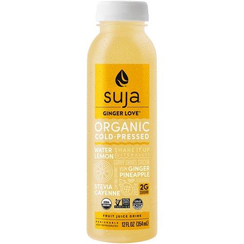 Cold-pressed. Water, Lemon, Ginger, Pineapple, Stevia, Cayenne. (12 fl oz)