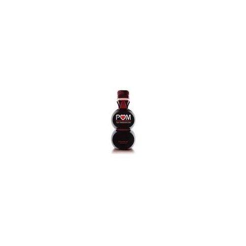 One 8-ounce POM Wonderful 100% Pomegranate Juice bottle.