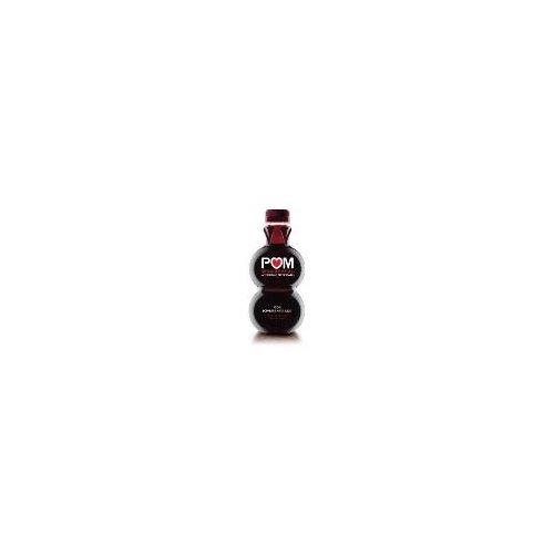 One 16-ounce POM Wonderful 100% Pomegranate Juice bottle.