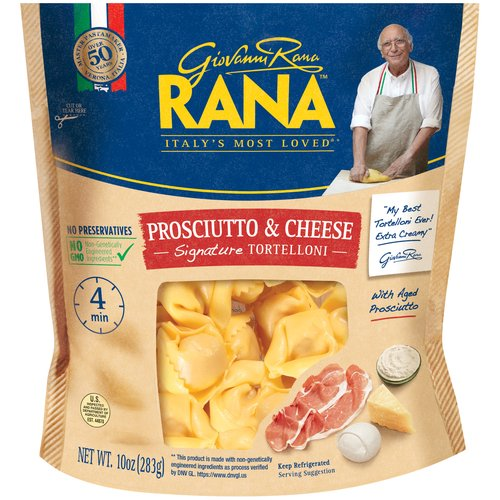 "Italy's Most Loved®*; Master Pastamaker Verona, Italia Over 50 Years; 4 Min.; ""My Best Tortelloni Ever! Extra Creamy"" —Giovanni Rana"