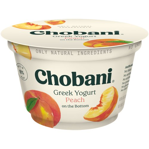 Non-fat yogurt. 0% milkfat. Only natural ingredients. No artificial sweeteners. No preservatives. Includes live and active cultures. Three types of probiotics