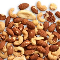 A rich blend of roasted Almonds, Cashews, Pecans, Hazelnuts & Brazil Nuts.