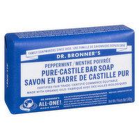 Dr. Bronner's - Magic Soaps Peppermint Pure Castile Soap, 140 Gram