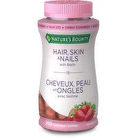 Nature's Bounty - Hair Skin & Nails Gummies - Strawberry, 165 Each