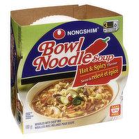 Nong Shim - Bowl Noodle Soup - Hot & Spicy Beef Flavour