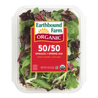 Two tender & tasty salad favorites combined: spring mix with Arugula & Red Chard & extra baby spinach. Full of vitamin A, C, Calcium & Iron. Grown without GMO's. Triple-washed & ready to use.