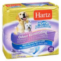 Hartz - Fresh Scent Odour Eliminating Dog Pads Lavender, 50 Each