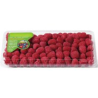 Add Fresh Raspberrries to add some colour and happiness to any meal. Make raspberry parfaits for breakfast, pies for a picnic, cobblers for dinner and raspberries framboise for a party. 340g