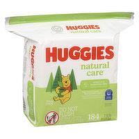 Huggies Huggies - Natural Care Wipes Fragrance Free, 184 Each