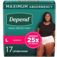 Depend - Fit Flex Underwear for Women LG, 17 Each