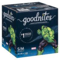 Goodnite - Youth Boy S/M Giga Bedtime, 44 Each
