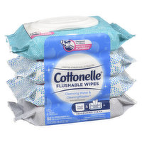 Cottonelle - Flushable Wipes, Cleansing Water