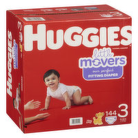 HUGGIES Pull-Ups - Little Movers Diapers - Size 3, 144 Each