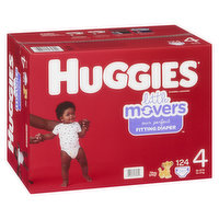 HUGGIES Pull-Ups - Little Movers Mega Colossal - Size 4, 124 Each