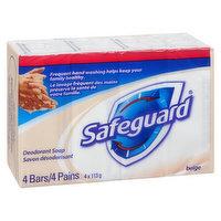 Safeguard - Antibacterial Bar Soap, 4 Each