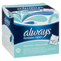 Always - Clean Wipes To Go, 20 Each