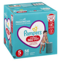 Pampers Pampers - Cruisers 360 Fit Diapers - Size 5 Super Pack, 56 Each