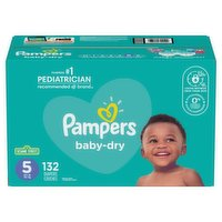 Pampers - Baby-Dry Diapers - Size 5 Super Economy