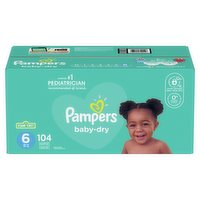 Pampers - Baby-Dry Diapers - Size 6 Super Economy