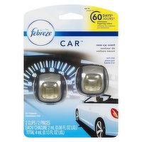 Febreze - Car Air Freshener Clips - New Car Scent, 2 Each