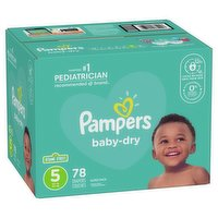 Pampers - Baby Dry Diapers - Size 5, 78 Each