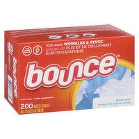 Bounce - 4in1 Fabric Softner Sheets Fresh Linen, 200 Each