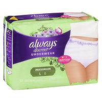 Always - Discreet Pads - Maximum, 17 Each