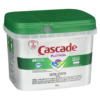 Cascade - Platinum Action Pacs - Fresh Scent, 60 Each