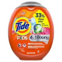 Tide - Liquid Pods 4 in 1 Downy - April Fresh, 73 Each