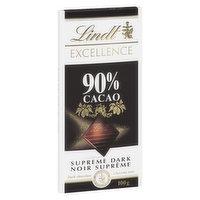 Lindt Lindt - Excellence Supreme Dark 90% Cacao, 100 Gram