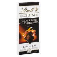 Dark Chocolate with Crunchy Caramel Piece and Sea Salt.