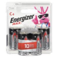 Energizer - Max Batteries C, 4 Each